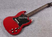 Venta al por mayor guitarra eléctrica del spegal P90 del SG de la nueva llegada, guitarra sólida de la firma del SG rojo del vino, cuerpo de caoba del AAA, envío libre
