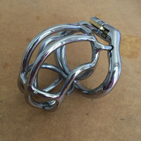 Wholesale Fashion Unique design mm length Stainless Steel Super Small Male Chastity Device quot Short Curve Cock Cage For Men BDSM Sex Toys