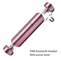 beautiful bluetooth stereo headset - Beautiful Twins True Wireless Bluetooth Headset with Emergency Charging Battery V4 Mini Stereo Earphones Handsfree for iPhone7 Smart Phone