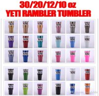 Wholesale New YETI Rambler Tumblers Travel Vehicle Beer Mugs Double Wall Bilayer Vacuum Inslated Cups Camo Skull Stars oz