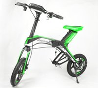 Wholesale Solarstars Robstep X1 Electric Bicycle Foldable Bluetooth Support Ah Lith on Batery Sporting Version Cycling Portable Bike Green