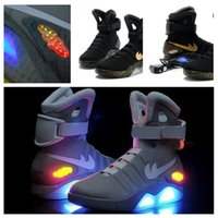 aka racing - 2016 Air Mag AKA Marty McFly s Basketball Shoes Glow In The Dark Sole Mag Limited Edition Air Mags Sneaker Led Lights