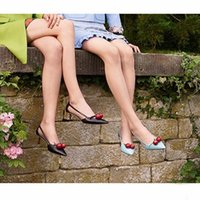 Women bamboo borders - 2017 Spring Cute Cherry High Heel Shoes Women Pointed Toe Bamboo Thin Heel Shallow Mouth Sandals Fashion Shoes For Woman