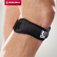 Nylon, Neoprene, Silicone band braces - Winmax Professional Kneepad Brace Pad Kneecap Protector Breathable Jumper Elbow Patella Tendon Support Black Knee Strap Band One Size