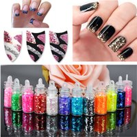 Wholesale bottles set DIY Nail Art Decorations For Women Art Powder Dust Tip Rhinestone Manicure Tools Colors Shining Nail Glitter