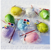 Wholesale Easter Egg DIY for Kids Drawing Painting with Brush Palette Children Gifts Education Toys Hot Sale
