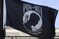 Wholesale DHL x5 FT Pow Mia POWMIA You are never Forgotten Black Double Sided Flag Banner