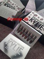 Wholesale New KYLIE MINI KIT MATTE LIQUID LIPSTICKS kylie holiday edition mini kit KYLIE lipgloss Jenner Matte Liquid Lipstick Lasting