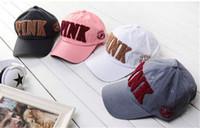 Wholesale 2017 PINK hat adult and big kids Baseball cap summer Sun hat snapback hats sports hip hop flat sun vs love pink hat