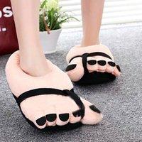big foot slippers - Pretty Funny Winter Indoor Toe Big Feet Warm Soft Plush Slippers Nice Slippers Woman