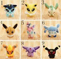 best animations - Pikachu Plush dolls Poke plush toy Umbreon Eevee Espeon Jolteon Stuffed animation toys best Gift DHL Shipping