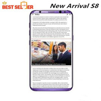 Android analog screen - Free DHL Hot New Arrival Unlocked S8 edge Curved screen Dual Camera Octa core Real G LTE GB ROM smartphone android