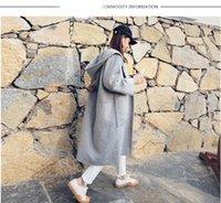 australian organic cotton - Australian double faced cashmere wool coat of new fund of autumn winters in long MAO qiu hooded women loose coat