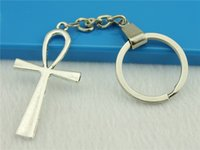ankh rings - WYSIWYG Men Jewelry Key Chain New Fashion Metal Key Chains Accessory Vintage Ankh Cross Key Rings