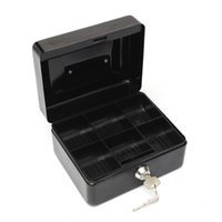 Wholesale Mini Portable Steel Construction Lock Cash Safe Box with Compartment Tray Lockable Coin Security Box