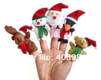 Wholesale Christmas Animal Finger Puppet Finger toy finger baby dolls Toys type set