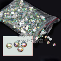 Wholesale D Nail Art Tips SS6 mm Resin Flat back Rhinestone Beads not hotfix for DIY Nails Art Phone Case AB clear N22