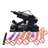 Jouets sexuels Prix-Machine automatique de sexe avec de nombreux accessoires Dildo Sexual Intercourse Robot Fucking Machine 6cm Retractable Femelle Masturbateur Sex Toys