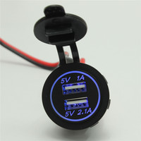Wholesale New Universal V A A DC V Waterproof Car Charger for Vehicle Dual USB Charger Ports Power Socket High Quality