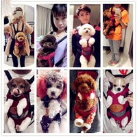 Wholesale Dog Bag Dog Backpack Teddy Shoulders Cat Pet Chest Package Bags Out Portable pPet Bag Convenient