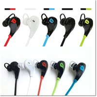 Bluetooth Headset best bluetooth brand - Wireless bluetooth stereo headphone best quality qy7 sport headset in ear bluetooth wireless wearing style earphone DHL