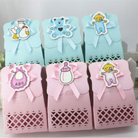 baptism party supplies - Cute Baby Shower candy box Event Party Supplies Decoration boy and girl Paper Baptism Kid Favors Gift Sweet Birthday Bag