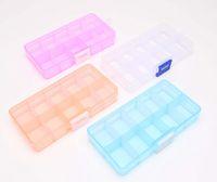 Wholesale 2014 New Home Using Mini Organizer for Jewelry Plastic Storage Boxes Adjustable Jewelry Box