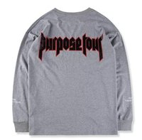 access rounding - Cool hip hop justin bieber purpose tour all access fear of god unisex men long slevee round neck cotton t shirt in grey