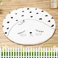 Wholesale Nursery Baby Bedding Blanket Crawling Mat Cotton Kids Room Floor Carpet Round Cute Face Design Chilren Padded Play Mats Rugs Summer cm