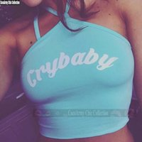 american bustier - Crybaby Halter Camis omighty dollskill american appeal Camisole Off Shoulder Crop Top Bustier Cropped Tank Cry Baby Kawaii Vest