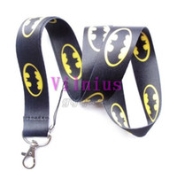 Wholesale Hot Hero Batman Lanyard Cartoon Bat Logo Neck Lanyard For Key chains ID Neck Strap Holder Mobie Phone Charms