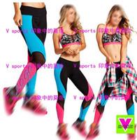 achat en gros de pantalons de yoga femmes nouveau mode-2017 Nouveau Pantalons femmes yoga fitness danse sportswear femme capris élastique mode Pantalons