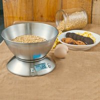 Wholesale New Digital Kitchen Scale Compact Diet Food KG LBS g Stainless Steel Bowl