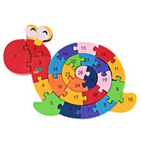 Wholesale New Educational Toys Brain Game Kids Winding Snail Wooden Toys Wood Kids d Puzzle Wood Brinquedo Madeira Kids Jjigsaw Puzzles