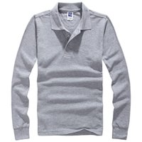 Wholesale Men Polo Hombre Shirt Mens Fashion Collar shirts Long Sleeve Casual Camisetas Masculinas Plus Size S XXXL Polos Sweatshirt