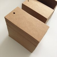 Wholesale Paper Mark New Kraft Paper Tags Hang Draw Pricing Label Party Wedding Gift Tag Card KraftNote Cards Packaging Labels