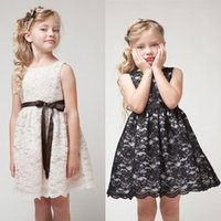 Wholesale Girls sleeveless dress high quality princess hollow lace skirt summer Ball Gown baby clothes Kids Clothing