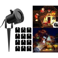 Wholesale Led Christmas Projector Replaceable Slides Outdoor Waterproof Holiday Decoration Gobo Lights Landscape Wall Garden Yard Spotlight