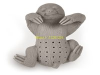Wholesale Silicone Teapot Cute sloth Infuser Tea Strainer Filter Infuser silicone sloth tea infuser