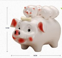 Wholesale Pig Saving Coin Money Box Animal Piggy Bank1Pcs Piggy Bank Pink Pig Coin Money Box Kids Great Gift