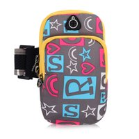 Wholesale Outdoor Sports Arm Bag Mobile Phone Arm Bag Waterproof Double deck Pocket Fit Inch Men Women