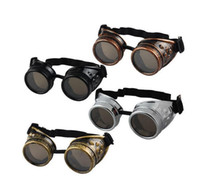 Wholesale Vintage Victorian Steampunk Goggles Glasses Welding Cyber Punk Gothic Cosplay
