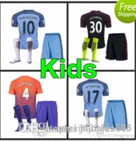 Wholesale 81 new Manchester City kids Jerseys DZEKO KUN AGUERO KOMPANY TOURE YAYA DE BRUYNE Home Away kits Shirt