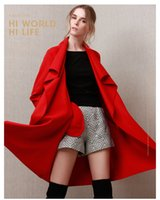 Wholesale 2016 New autumn high fashion trend street women s wool blend Trench Coat Casual long Outerwear loose clothing for lady