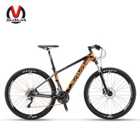 Wholesale SAVA DECK300 inch Carbon Fiber MTB Mountain Bike Ultralight Speed Bicycle Cycle SHIMANO M610 Derailleur System Hydraulic Brake