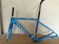 Wholesale 2016 White Blue Carbon Frame Road Bicycle Frame Size XS S M L Available BB86 BB30 or BB68 adapter
