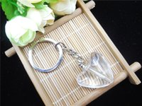 Wholesale 1 mm Tritium Tube Self luminous Big heart Years Keychain buckle in key string backpack mobile phone Giant Imitation crystal material