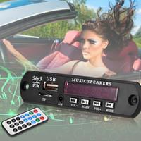 12V Black 2.5 Car Digital LED 12V Auto MP3 Player Decoder Board Panel Support FM Radio USB TF AUX Remote Display Memory Function
