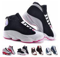 al por mayor kid regalos baratos para el cumpleaños-Los niños retros del aire retros 13 niños calzan la muchacha del muchacho 13s negros negros calzan los zapatos atléticos de los niños de los zapatos de los cabritos Regalo de cumpleaños