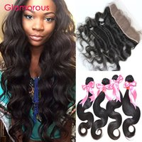 Cheap Brazilian Hair body wave human hair Best Body Wave 4 Bundles with Lace Frontal Closure lace frontal with 4 bundles